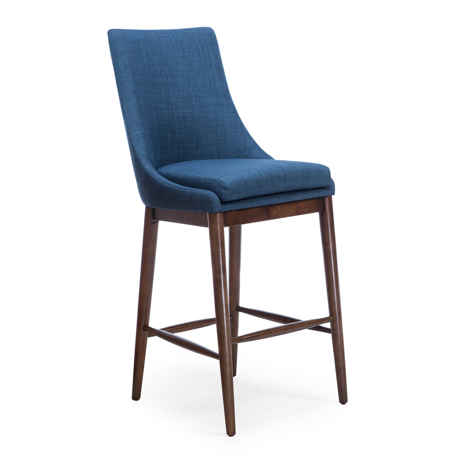Belham Living Carter Mid-Century Modern Upholstered Bar-Height Stool