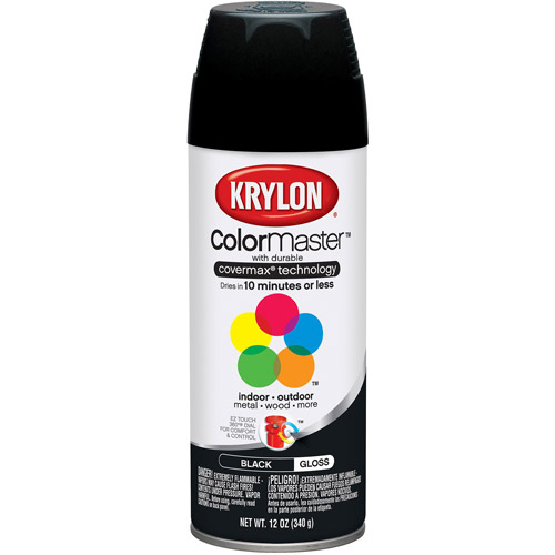 Krylon Colormaster Gloss Black