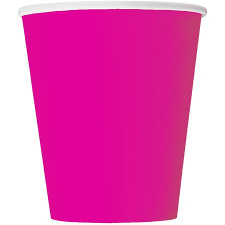 Paper Cups, 9 oz, Neon Pink, 14ct for $<!---->