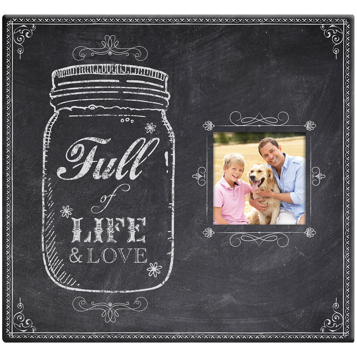 "Full Of Life Mason Jar Post Bound Scrapbook with Window, 12"" x 12"