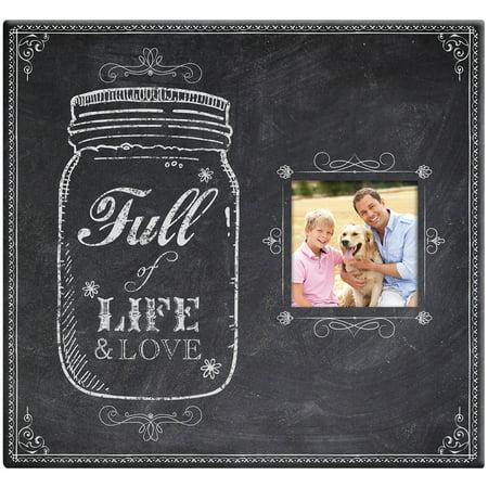 Full Of Life Mason Jar Post Bound Scrapbook with Window, 12