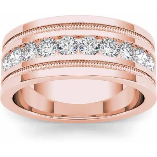 Imperial 1-1/10 Carat T.W. Diamond Men's 14kt Rose Gold Wedding Band