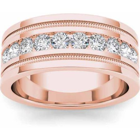 Imperial 1-1/10 Carat T.W. Diamond Men's 14kt Rose Gold Wedding Band