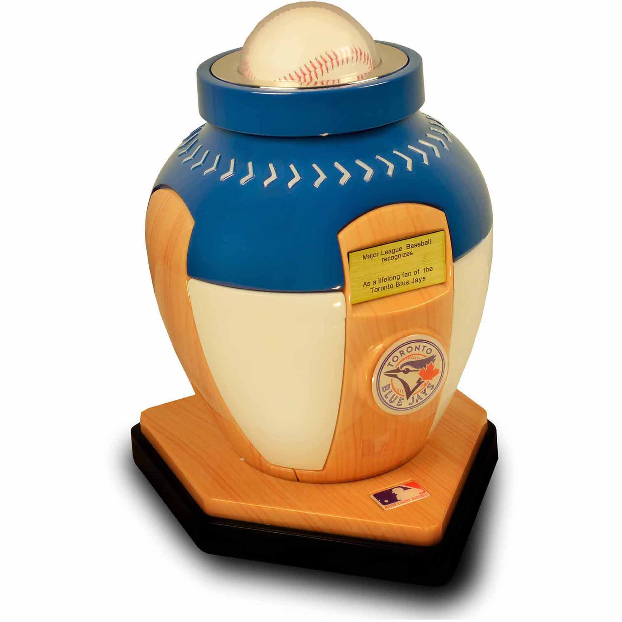 Official Major League Baseball Cremation Urn for Human Ashes - Toronto Blue Jays