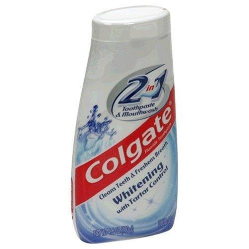 Colgate 2 in 1 Toothpaste & Mouthwash, Whitening - 4.6 oz
