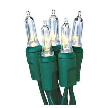 Holiday Bright Lights LEDBX-T5100-WW Christmas LED Light Set, T5, Commercial-Grade, Warm White, 100-Ct.