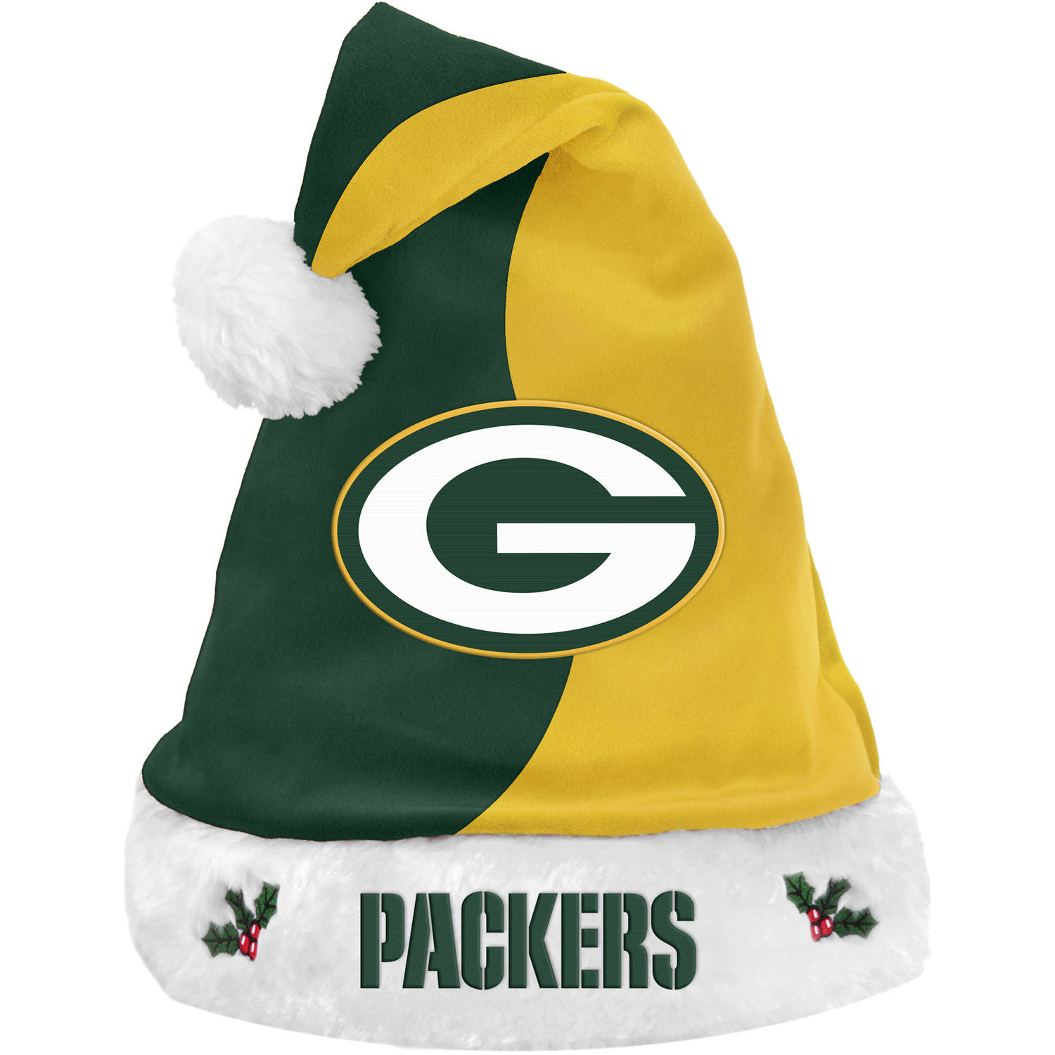 Forever Collectibles NFL Basic Santa Hat, Green Bay Packers