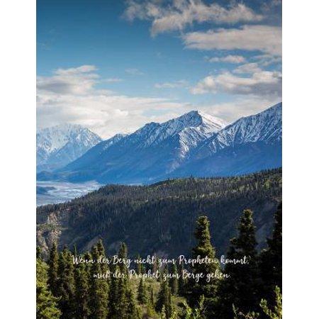 Wenn Der Berg Nicht Zum Propheten Kommt, Muß Der Prophet Zum Berge Gehen. Geschenk Für Erwachsene. : Breite Beherrschten Notizbuchseiten Papier (Breite Rahmen-gläser Der Männer)