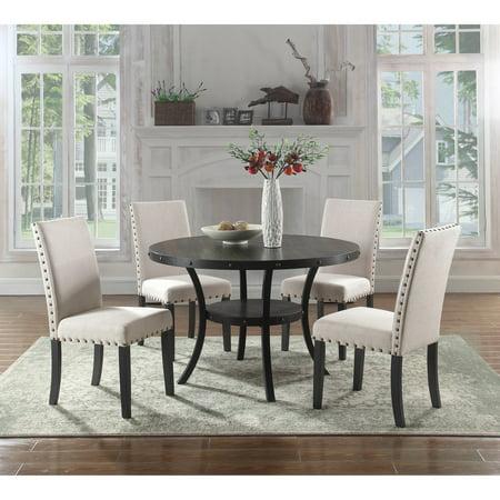 best master furniture darlington round 5 piece dining set. Black Bedroom Furniture Sets. Home Design Ideas