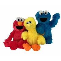 Sesame Street Classic 10 Inch Plush Toys Set of 3 Big Bird Cookie Monster Elmo