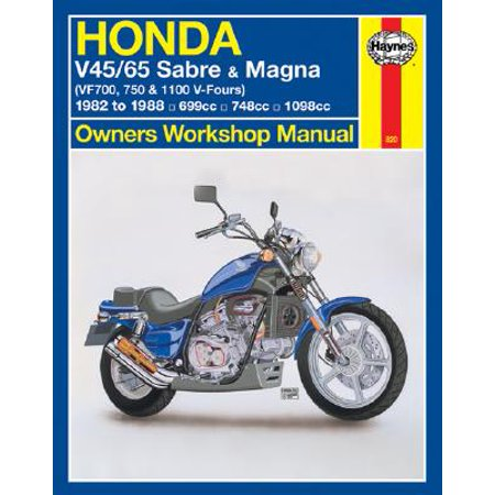 Honda V45/65 Sabre and Magna Owners Workshop Manual : (vf700, 750 & 1100 V-Fours) 1982 to 1988 (Magna Page)