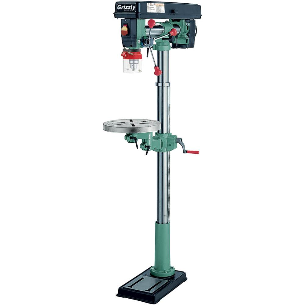 Grizzly G7946 5 Speed Floor Radial Drill Press by