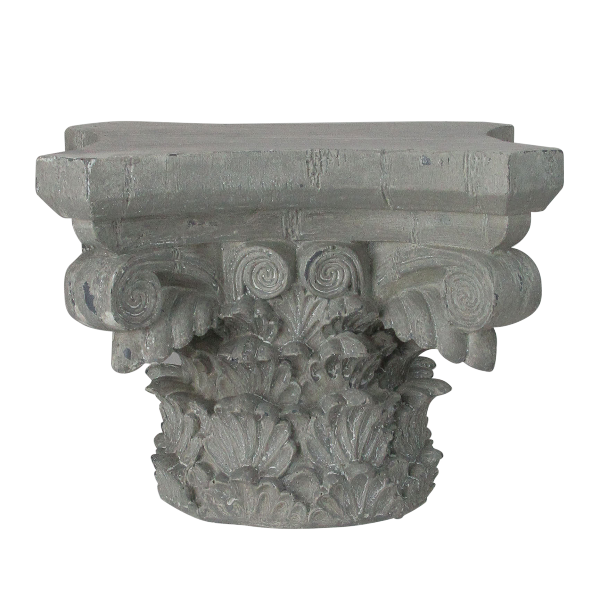 """7.5"""" Small Gray Weathered Pedestal Display Stand"""