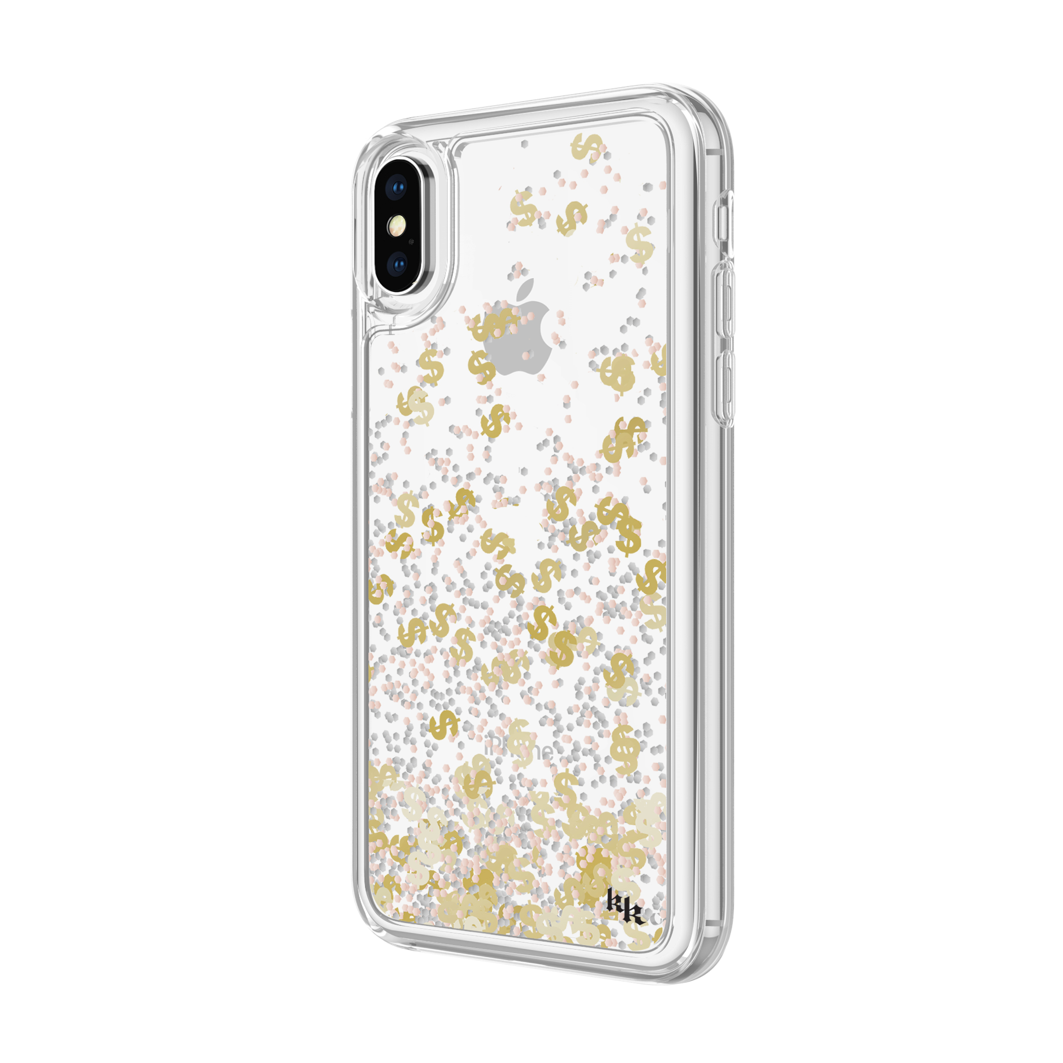 sale retailer 90819 69a46 KENDALL + KYLIE Liquid Glitter Case for iPhone X – Dollar Signs ...