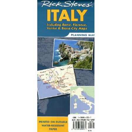 Rick steves italy planning map : including rome, florence, venice and siena city: 9781598800531