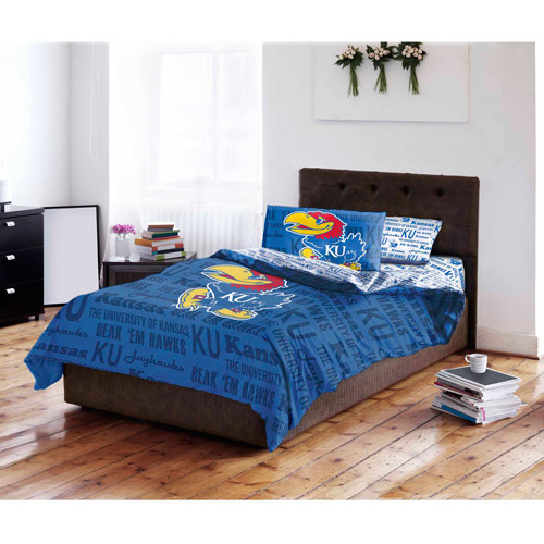 NCAA University of Kansas Jayhawks Bed in a Bag Complete Bedding Set