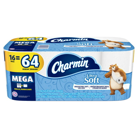 Charmin Ultra Soft Toilet Paper, 16 Mega Rolls (Halloween Crafts With Toilet Paper Rolls)
