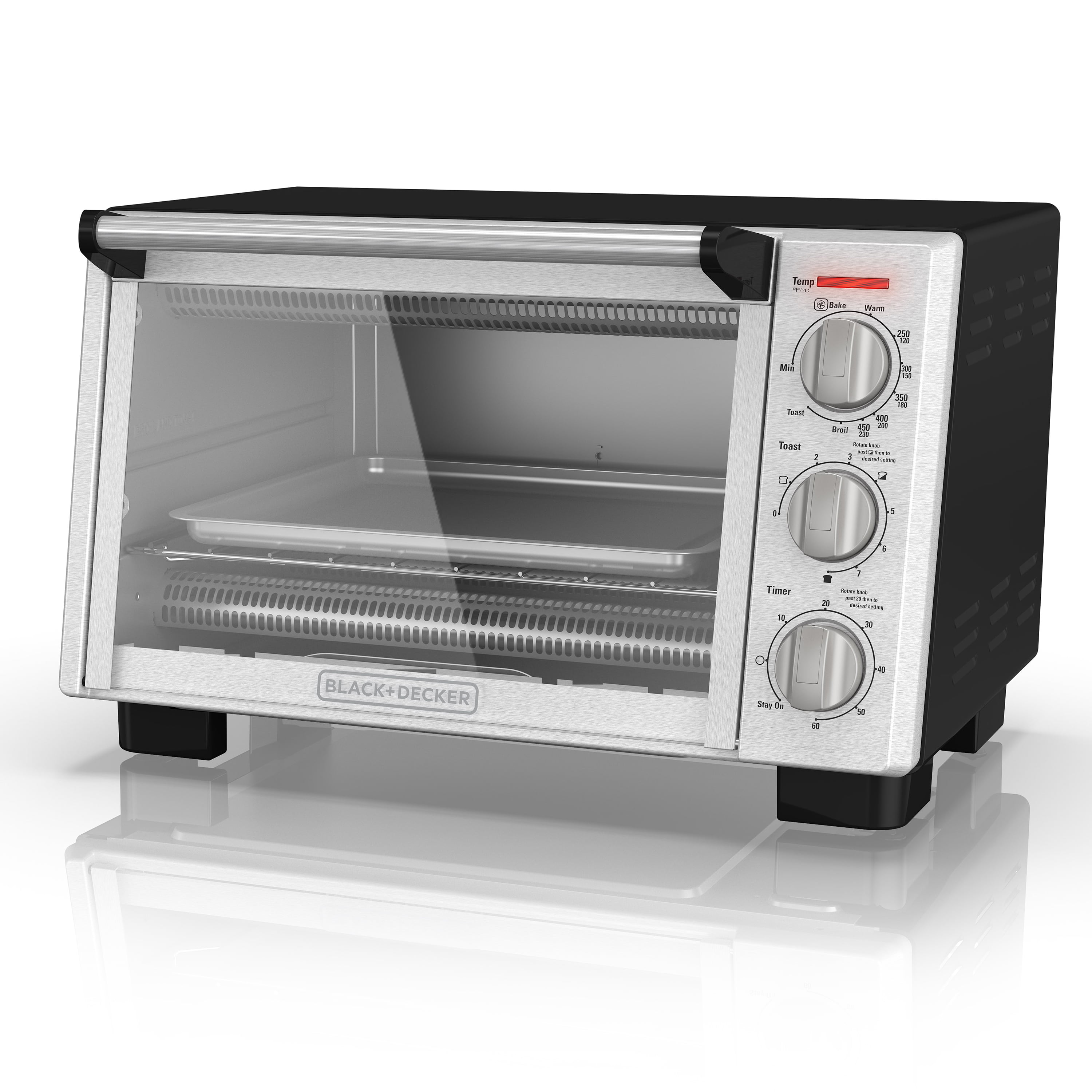 Black & Decker 6-Slice Convection Toaster Oven, Stainless Steel, TO2055S by BLACK DECKER