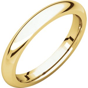 Jewels By Lux 22K Yellow Gold 3mm Comfort Fit Mens Wedding Ring Band