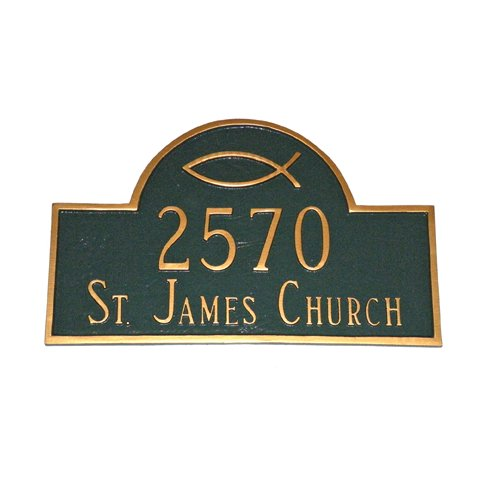 Montague Metal Products Inc. Ichthus Classic Arch Address Plaque