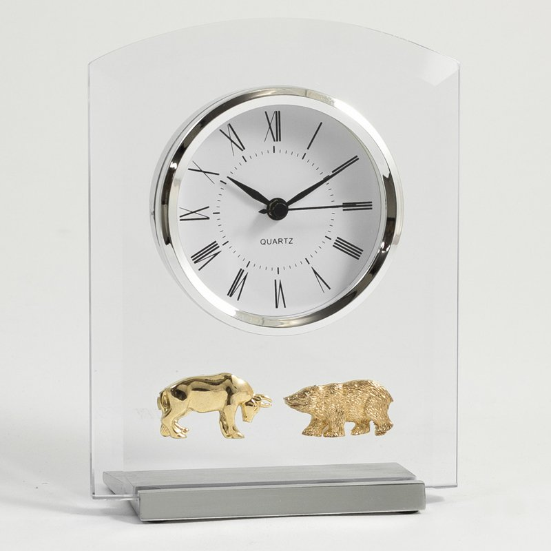 Bey-Berk Stock Market Desktop Clock
