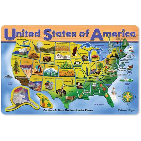 Melissa & Doug USA Map Wooden Puzzle, 45pc for $<!---->