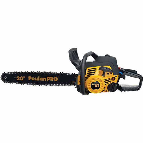 """Poulan 966055201 20"""" 50cc 2-Stroke Gas Powered Chain Saw with Carrying Case"""