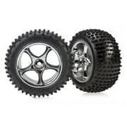 Traxxas Rear Chrome Tracer Wheels Bandit 2470R