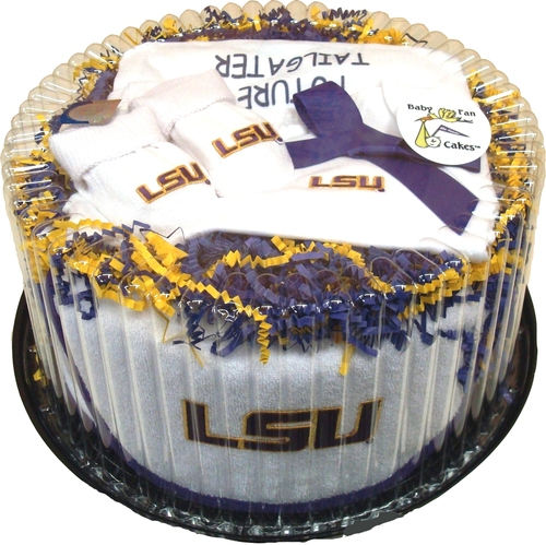 LSU Tiger Baby Fan Cake Clothing Gift Set