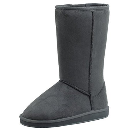 Tall Faux Fur Boots (Womens Boots Mid Calf 12