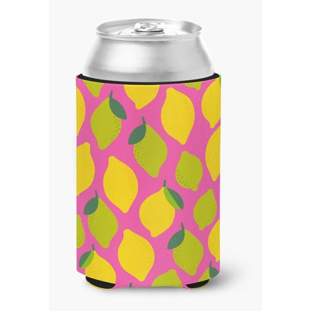 Lemons and Limes on Pink Can or Bottle Hugger](Lemon Loves Lime Clearance)