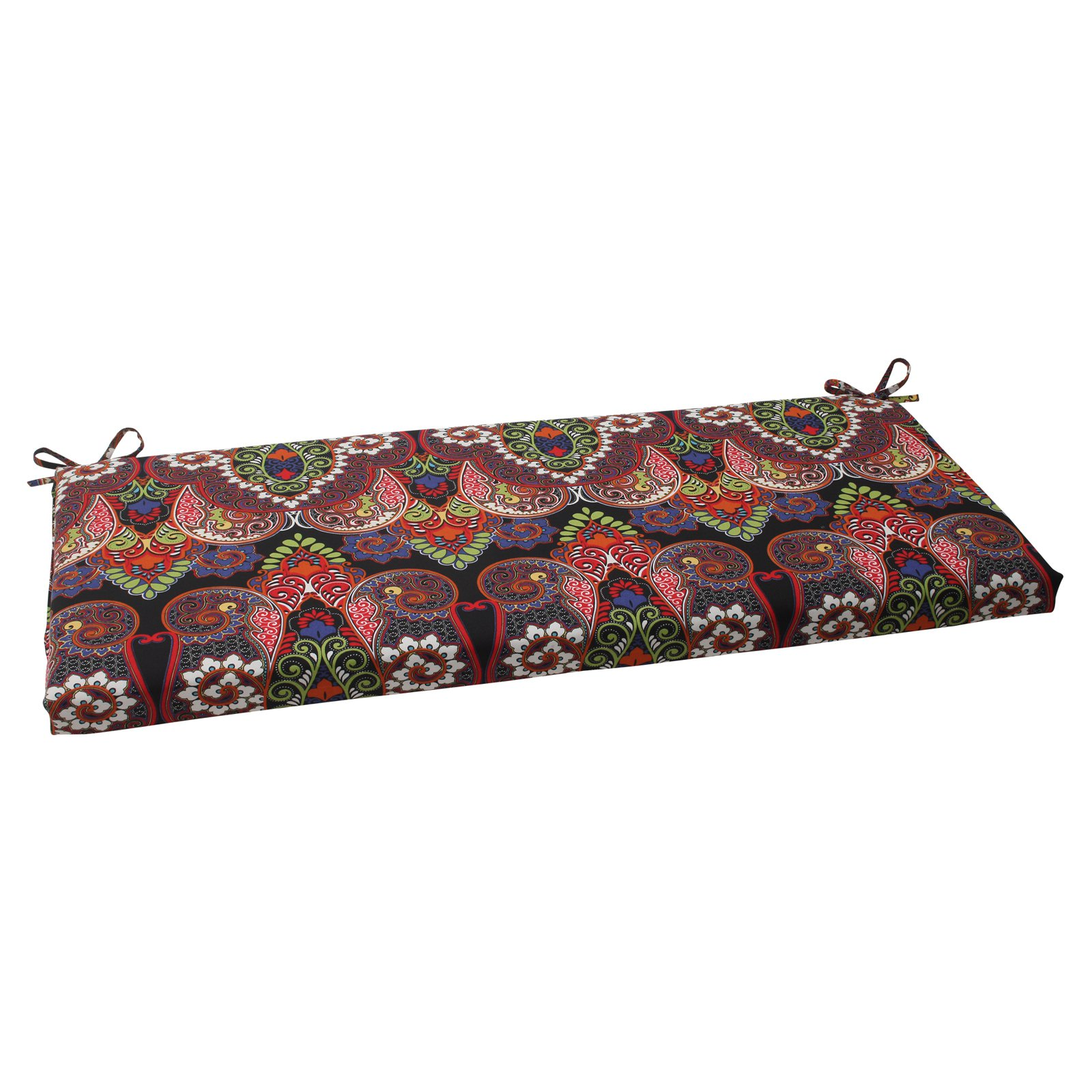 Pillow Perfect Outdoor/ Indoor Marapi Black Bench Cushion