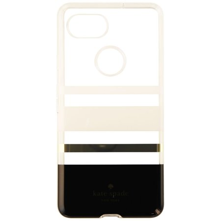 best service 28e7a 9aaa2 Kate Spade Flexible Hardshell Case Cover For Pixel 2 XL White Clear  (Charlotte) (Refurbished)