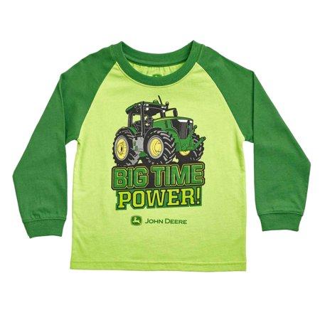 65da52568a7 John Deere - John Deere Infant Boys Big Time Power Long Sleeve T-Shirt 12m  - Walmart.com