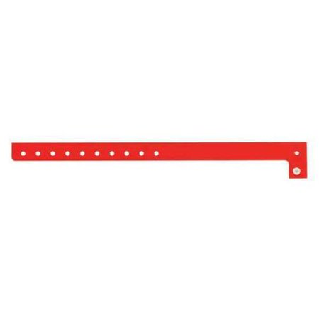 IDENTIPLUS P1-03 ID Wristband,L-Shaped,Red,5/8 in W,PK500 G3346500](Plastic Wristbands)