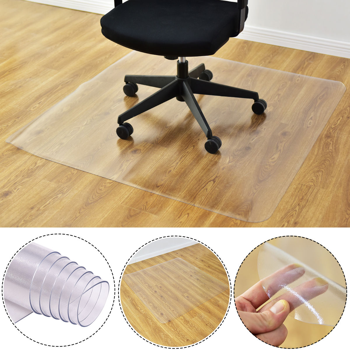 costway x pvc chair floor mat home office protector for