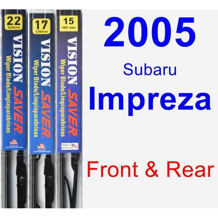2005 Subaru Impreza Wiper Blade Set/Kit (Front & Rear) (3 Blades) - Vision Saver