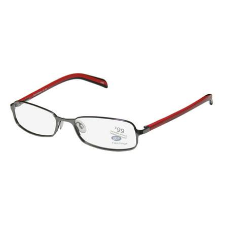New Boots Redshank Mens/Womens Designer Full-Rim Gunmetal / Red / Black Adults Hip Adjustable Nosepads Frame Demo Lenses 54-16-140 Spring Hinges Eyeglasses/Eye Glasses](Boot Glasses)