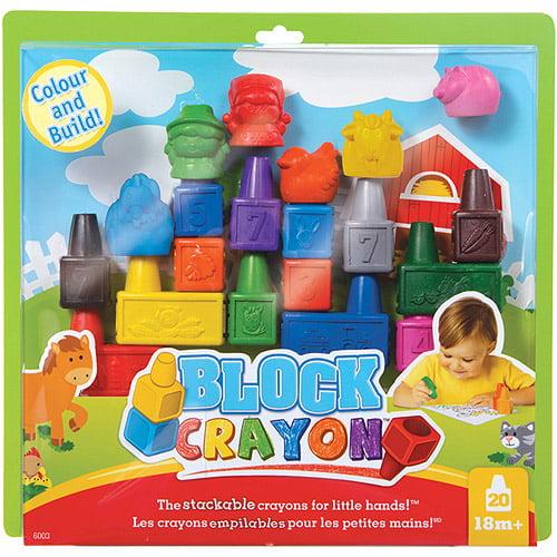 Block Crayon, 20-Piece