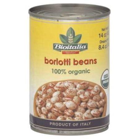 (6 Pack) Bioitalia - Canned Organic Borlotti Beans, 14 (Borlotto Bean)