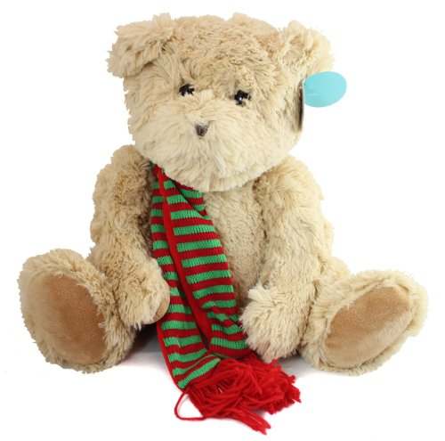 Beverly Hills Christmas Teddy Bear with Scarf 18 inches by