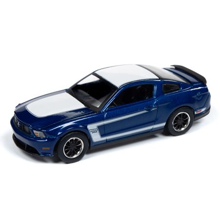Auto World 64212 1:64 Modern Muscle 2012 Ford Mustang Boss 302 Kon Blue Series