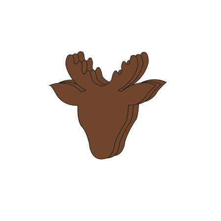 Large Single Color Cut-Out - - Reindeer Cut Out