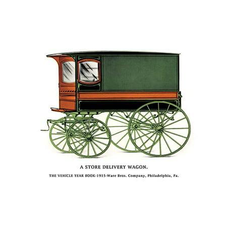 Store Delivery Wagon (Store Delivery Wagon Fine art canvas print (20