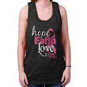 Breast Cancer Awareness Shirt | Faith Hope Love Support Pink Tank Top Shirt