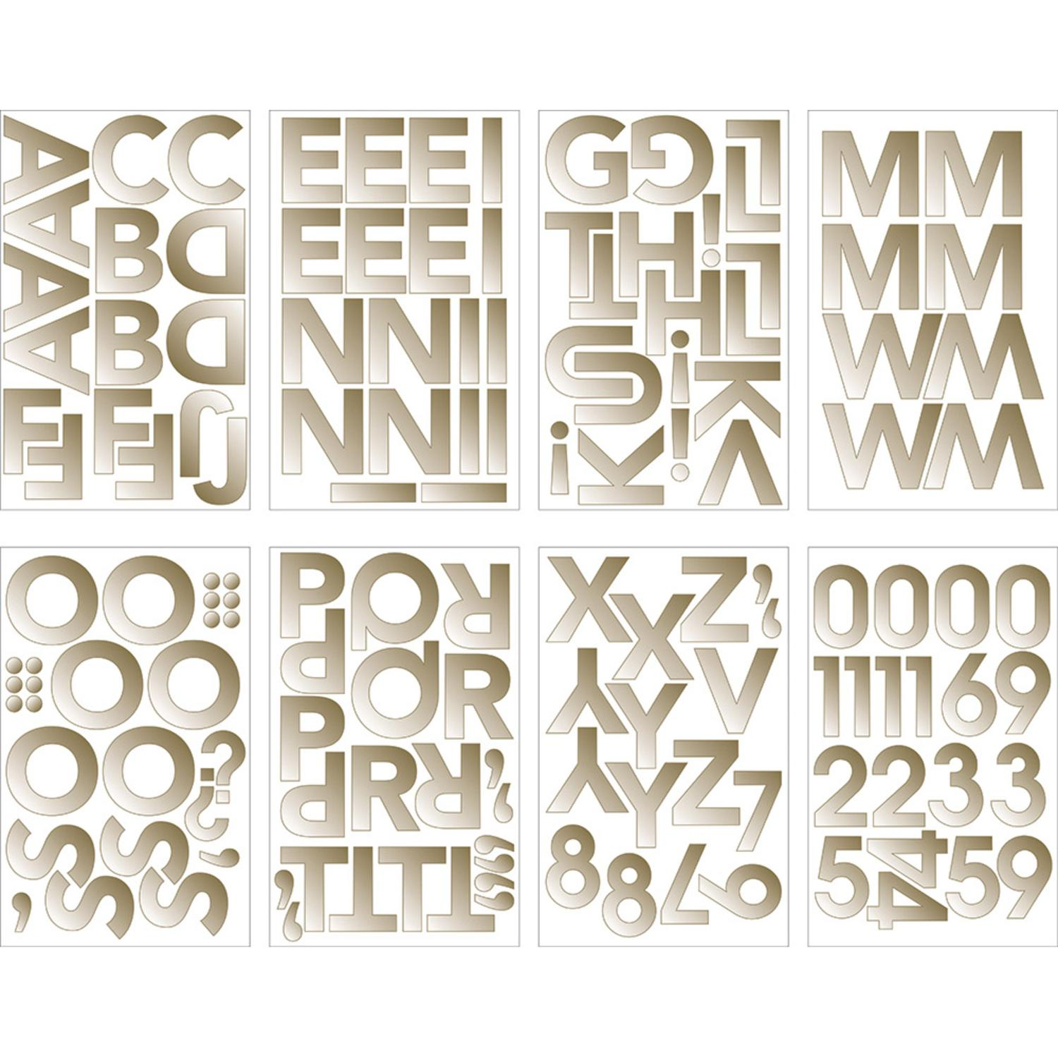 """Club Pack of 96 Shiny Gold Decorative Foil Letters and Number Banner Stickers 9.6"""""""