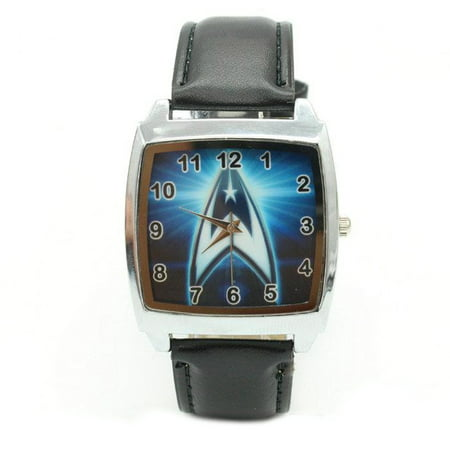 Star Trek Watch Star Trek Symbol Logo Starship Enterprise Wristwatch Federation, Watch-238 Band Star Wrist Watch