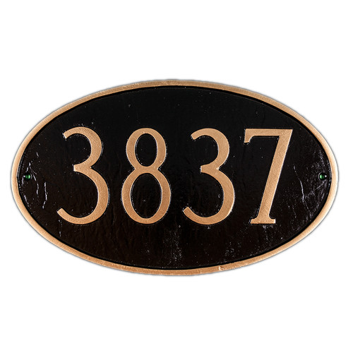 Montague Metal Products Inc. Large Oval Address Plaque
