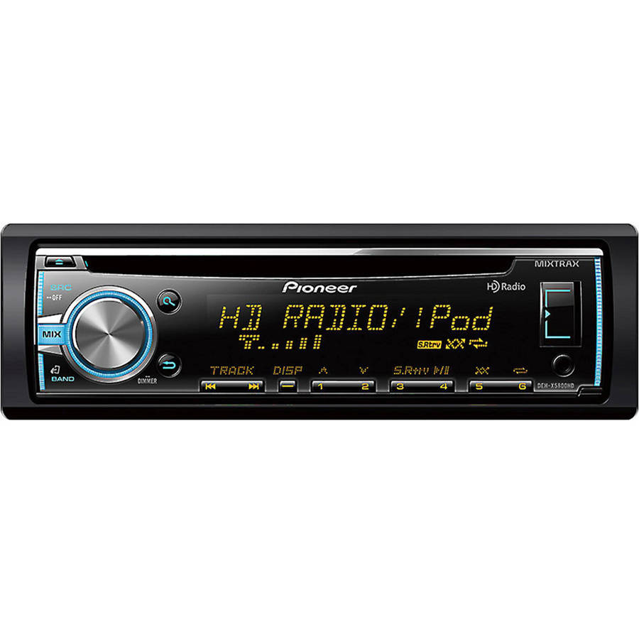 Pioneer DEH-X5800HD MIXTRAX Single-DIN In-Dash Car Stereo