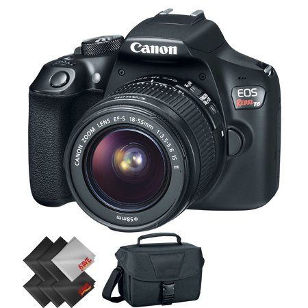 Canon EOS Rebel T6 DSLR Camera with 18-55mm Lens + Essential Accessories Bundle